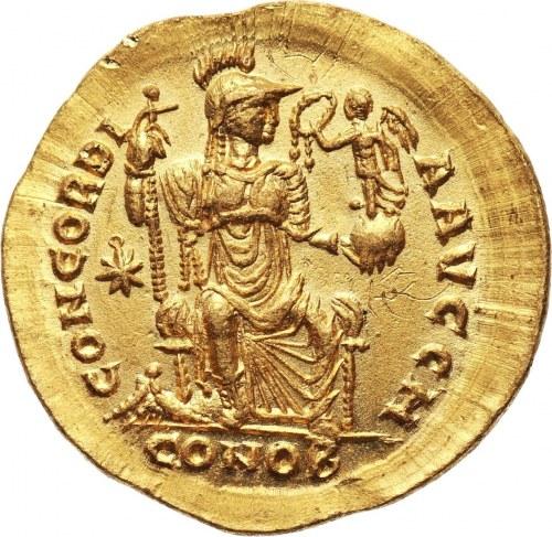 Roman Empire, Theodosius II 408-450, Solidus, Constantinople
