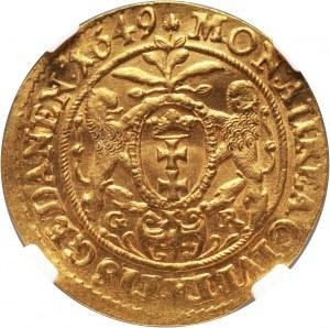Poland, Jan II Kazimierz, Ducat 1649, Danzig