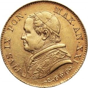 Watykan, Pius IX, 20 lirów 1866 XXI R, Rzym