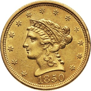 Stany Zjednoczone Ameryki, 2 1/2 dolara 1850, Filadelfia