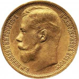 Rosja, Mikołaj II, 15 rubli 1897 (АГ), Petersburg