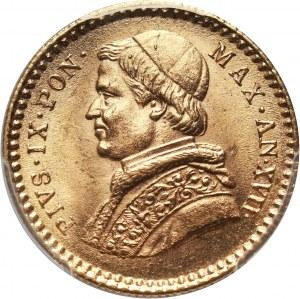 Watykan, Pius IX, 2 1/2 scudi 1863-XVII R, Rzym