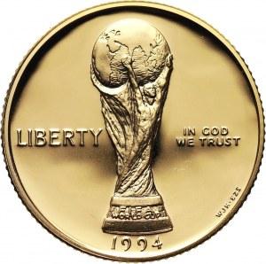 Stany Zjednoczone Ameryki, 5 dolarów 1994 W, MŚ w USA, stempel lustrzany