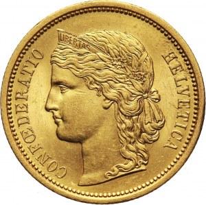 Szwajcaria, 20 franków 1883 B, Berno