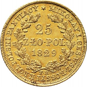 Poland, Alexander I, 25 Zlotych 1829 FH, Warsaw
