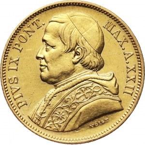 Watykan, Pius IX, 50 lirów 1868 XXII R, Rzym