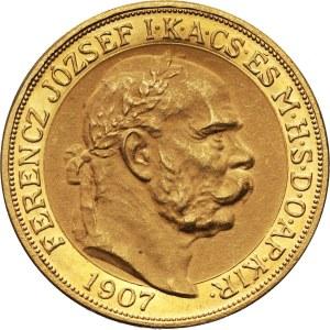 Hungary, Franz Joseph I, 100 Korona 1907 KB, Kremnitz