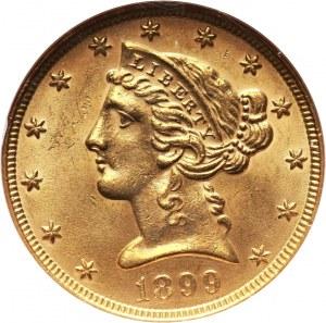 Stany Zjednoczone Ameryki, 5 dolarów 1899, Filadelfia
