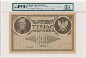 1.000 marek 1919 - J - PMG 63
