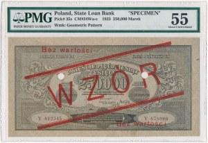 250.000 marek 1923 WZÓR - Y - PMG 55 - rzadka seria zastępcza