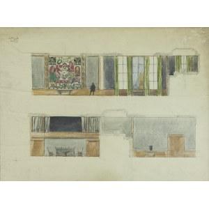 Józef CZAJKOWSKI (1872-1947), Projekt dekoracji sali Ligii Narodów w Genewie - sala nr 10 , l. 20/30. XX w.