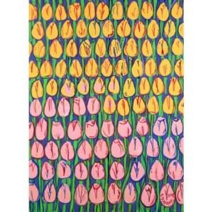 Edward Dwurnik, Tulipany (żółto-różowe)