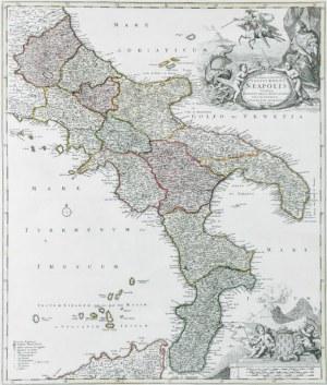 Jan Baptysta HOMANN (1664-1724), Mapa Południowych Włoch