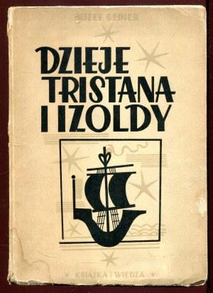 Dzieje Tristana i Izoldy okładka Mieczysław Jurgielewicz dedykacja Henryka Voglera