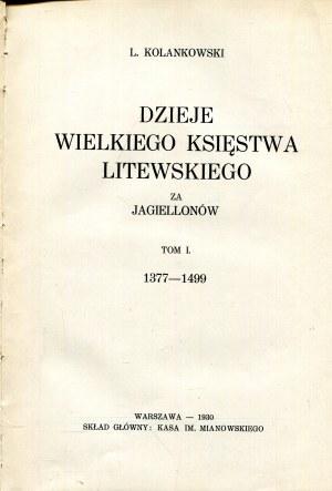 Dzieje Wielkiego Księstwa Litewskiego za Jagiellonów