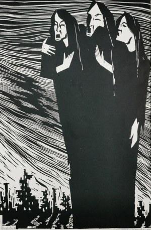 Stefan RASSALSKI (1910-1972), Kobiety, z cyklu: Wojna, 1968