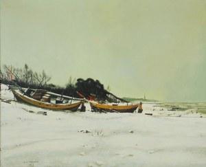 Andrzej SADOWSKI (ur. 1926 r.), Mielno - Łodzie rybackie, 1981