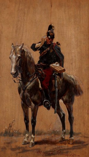 Wojciech Kossak (1856 Paryż - 1942 Kraków), Podarunek