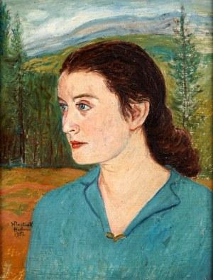 Wlastimil Hofman (1881 Karlino K. Pragi - 1970 Szklarska Poręba), Portret kobiety, 1952