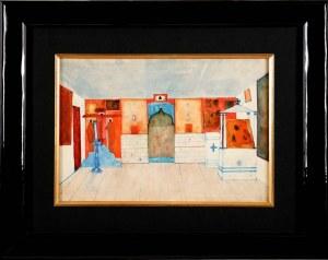 Jerzy Nowosielski (1923 Kraków - 2011 Kraków), Projekt ikonostasu - praca dwustronna