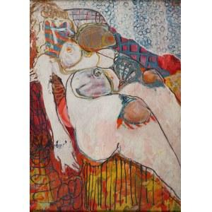 Lech Kunka (1920 Pabianice - 1978 Łódź), Akt kobiecy, 1954