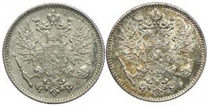 Finlandia, Mikołaj II, 50 pennia 1907, 1916 (2szt.)