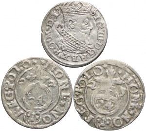 Zygmunt III Waza, grosz 1626, półtoraki 1622-1623 (3szt.)