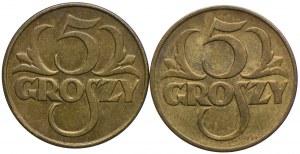 5 groszy, 1923 (2szt.)
