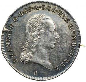 Broszka, Austria, Franciszek II, 1/4 talara 1797 B