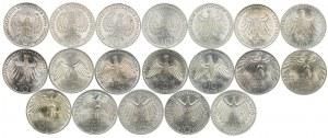 Niemcy, zestaw 10 marek 1972, Olimpiada (19szt.)