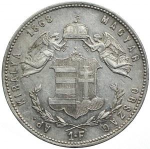 Węgry, Franciszek Józef I, 1 forint 1868 KB