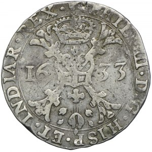 Niderlandy Hiszpańskie, Filip IV, patagon 1633, Antwerpia