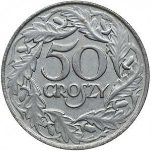 50 groszy 1938, nieniklowane