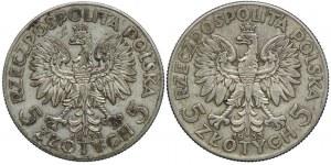 5 złotych 1933, Głowa Kobiety (2szt.)