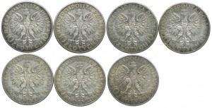 10 złotych 1932, Głowa Kobiety (7szt.)