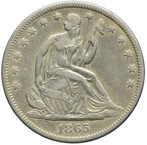 USA, 1/2 dolara 1865 S, San Francisco