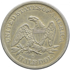 USA, 1/2 dolara 1865 S, San Francisco