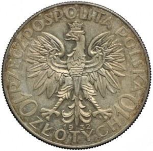 10 złotych 1932 zm, Warszawa, Głowa Kobiety