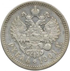 Rosja, Mikołaj II, 1 rubel 1901 (Ф•З)