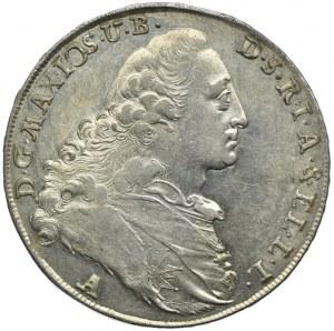 Niemcy, Bawaria, Maksymilian III, talar 1772 A, Amberg