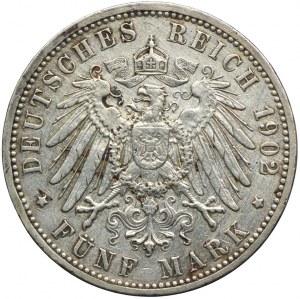 Niemcy, Badenia, 5 marek 1902 G, Karlsruhe