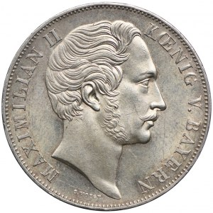 Niemcy, Bawaria, Maksymilian II, 2 guldeny 1855, Monachium