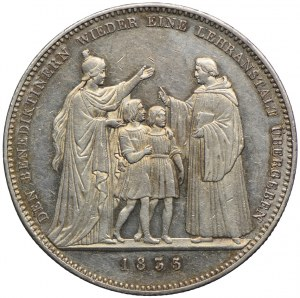 Niemcy, Bawaria, talar pamiątkowy 1835, przekazanie szkoły zakonowi Benedyktów