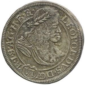 Śląsk, Leopold, 6 krajcarów 1675 F.I.K, Opole