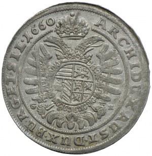 Śląsk, Leopold, 15 krajcarów 1660 GH, Wrocław