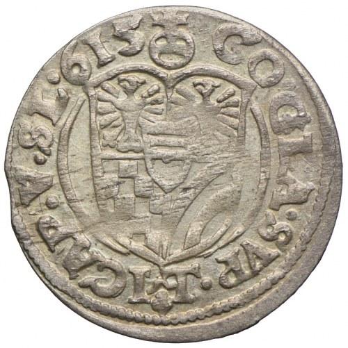 Śląsk, Księstwo Ziębicko-Oleśnickie, Karol II, 3 krajcary 1615 HT