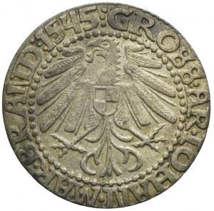 Śląsk, Księstwo Krośnieńskie, Jan Kostrzyński, grosz 1545