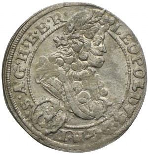 Śląsk, Śląsk pod panowaniem habsburskim, Leopold I, 3 krajcary 1696 CB, Brzeg