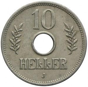 Niemiecka Afryka Wschodnia, 10 heller 1909 J, Hamburg
