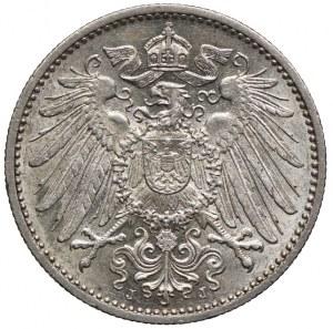 Niemcy, 1 marka 1900 J, Hamburg